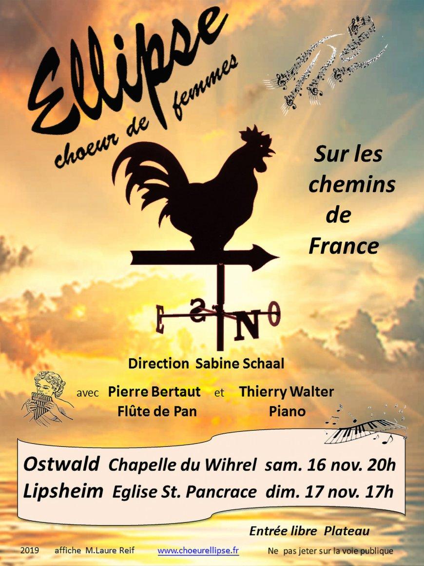 Sur les  Chemins de France par le Choeur de Femmes Ellipse