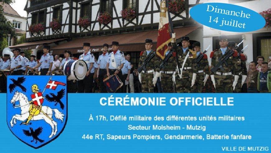 Célébration de la fête nationale à Mutzig