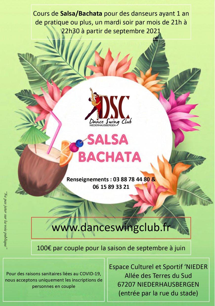 COURS DE DANSE DE SALSA/BACHATA  niveau DEBUTANT PLUS