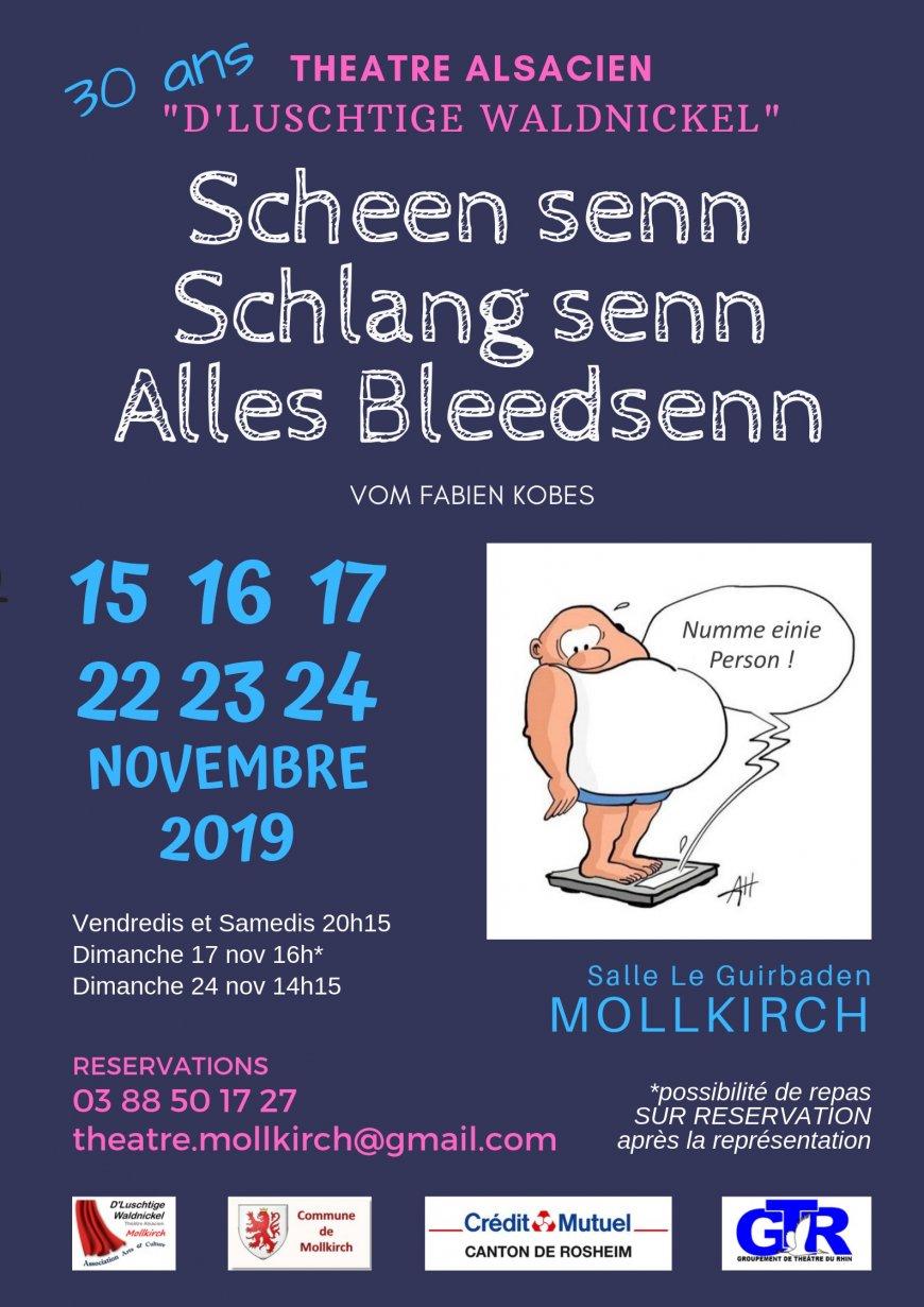 """Théâtre als. Mollkirch - """"Scheen senn, Schlang senn, alles Bleedsenn"""""""