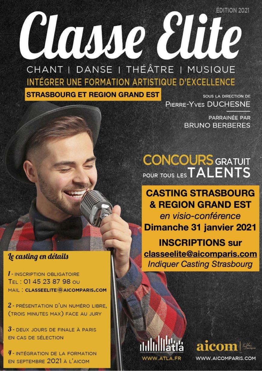 Concours - Casting le dimanche 31 janvier 2021