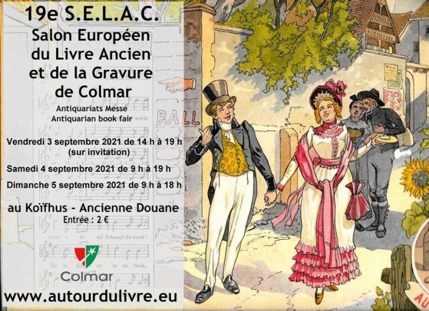 19e SELAC – Salon Européen du Livre Ancien de Colmar - Colmar