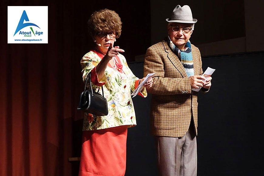 """Spectacle """"Vivre sa retraite avec humour"""" - Atout Age Alsace"""