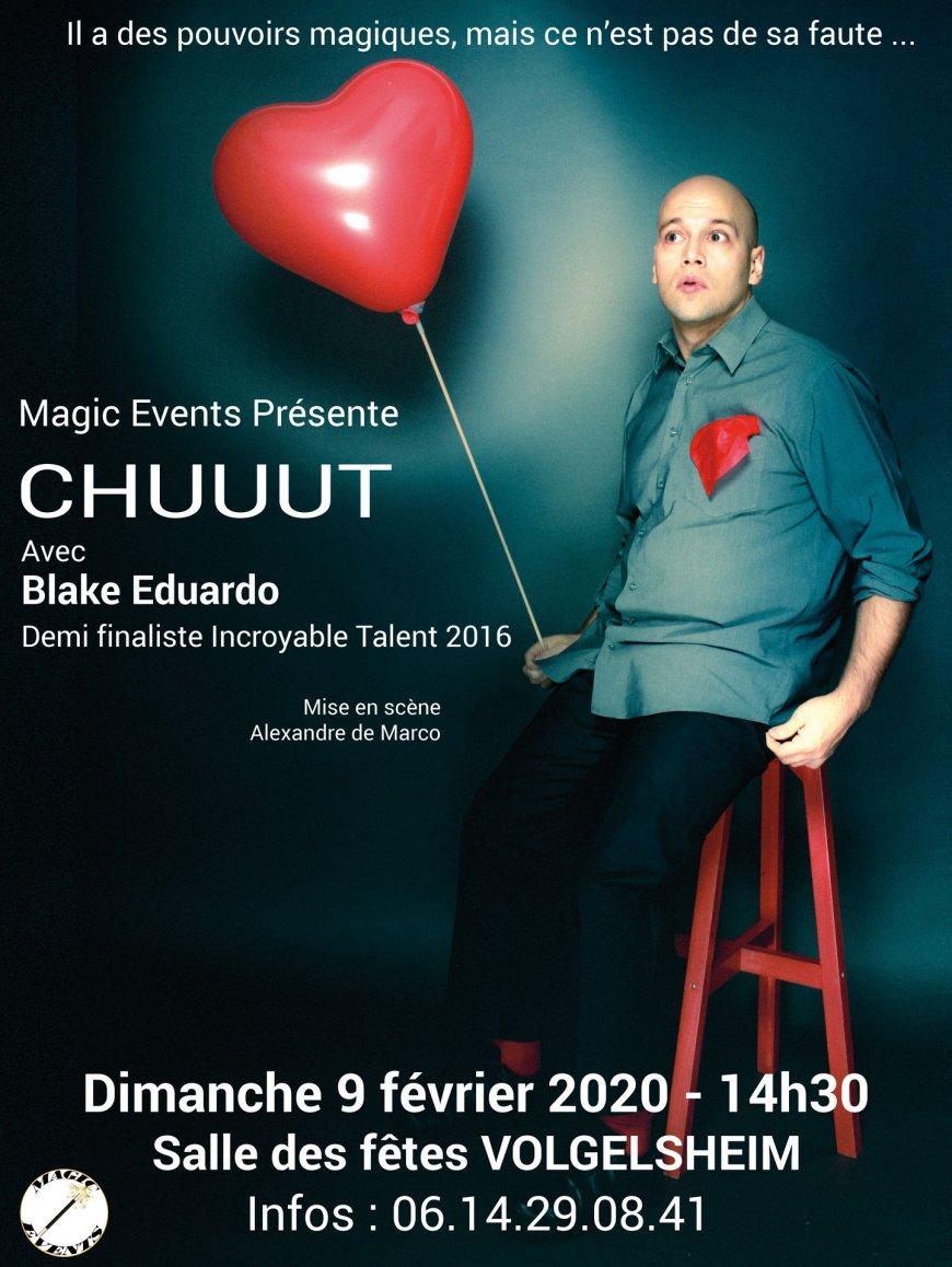 Blake Eduardo en spectacle à Volgelsheim. Mais CHUUUT...